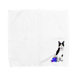 ねことピエロ Towel handkerchiefs