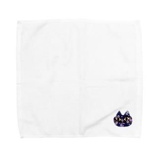 ねこ(和柄) Towel handkerchiefs