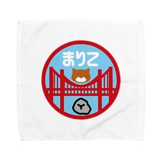 パ紋No.3165 まりこ Towel handkerchiefs