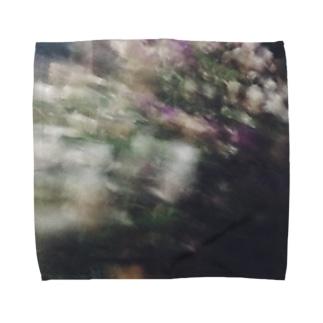 庭の花 タオルハンカチ