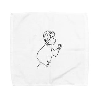 80年代風ニット系男子 Towel handkerchiefs