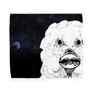 愛が欲しいオウムマン Towel handkerchiefs