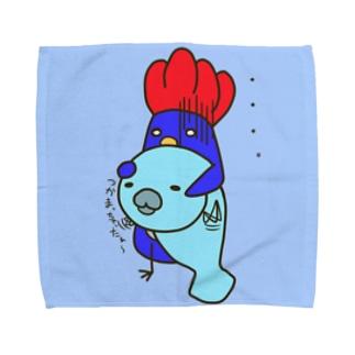 ニワトリペンギンとマネティ Towel handkerchiefs
