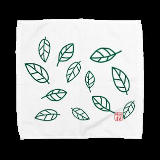 晴田書店のleaf〜葉〜 Towel handkerchiefs