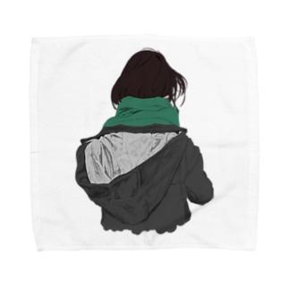 後ろ姿 Towel handkerchiefs