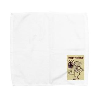 おばけ君のプレゼント Towel handkerchiefs