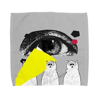 アイくまトリオ Towel handkerchiefs