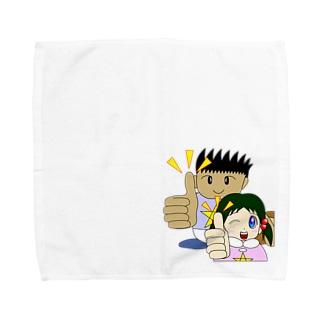 わんぱ君としおりちゃん Towel handkerchiefs