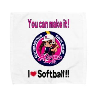 宮郷Jr.ペットマーク(2017東日本大会出場記念) Towel handkerchiefs