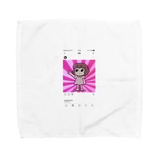 シニカルヒステリーアワーちゃん Towel handkerchiefs