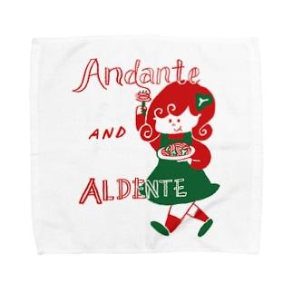 Andante AND ALDENTE Towel handkerchiefs
