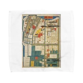 本所深川絵図 Towel handkerchiefs