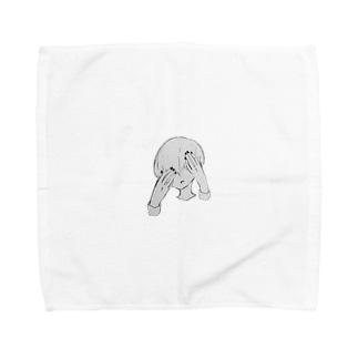 暗闇まっしゅくんのマッシュヘアー Towel handkerchiefs