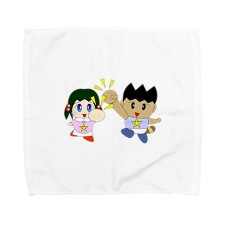 ミニわんぱ君としおりちゃん Towel handkerchiefs