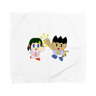WANPA's STOREのミニわんぱ君としおりちゃん Towel handkerchiefs