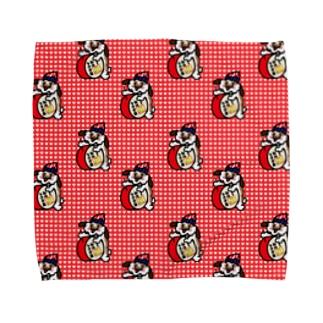 くいだおれふぃぐちゃん総柄 Towel handkerchiefs
