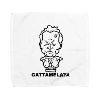 お怒りガッタメ君 Towel handkerchiefs