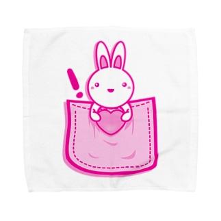 Rabbit_in_the_Pocket タオルハンカチ