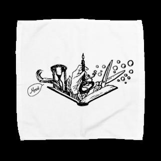 LUNARHOLIC STOREの-Noir+Angelique- メモリアルイラスト柄シリーズ Towel handkerchiefs