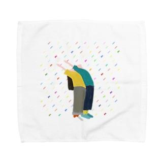 雨の降った日 Towel handkerchiefs