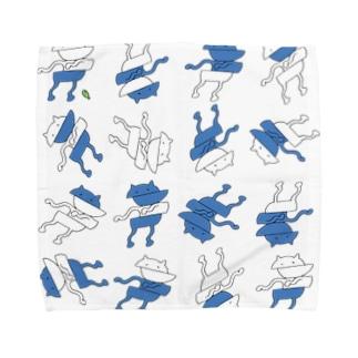 ずれるねこ Towel handkerchiefs