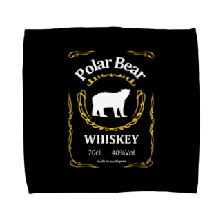 白熊ウイスキー Black Towel handkerchiefs