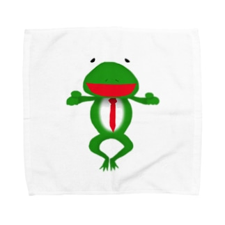 ざまぁガエル Towel handkerchiefs
