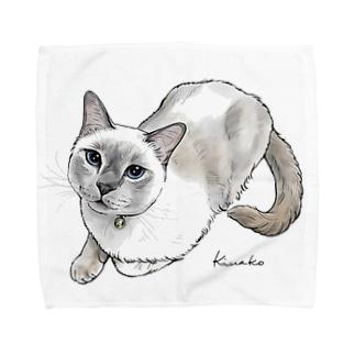 トンキニーズのビーちゃん2 Towel handkerchiefs