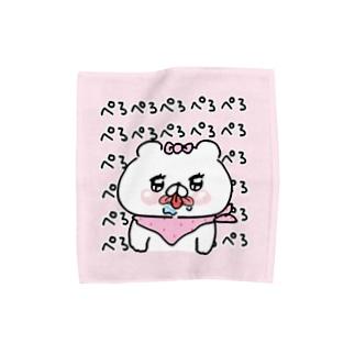 クマ子ぺろぺろハンカチ Towel handkerchiefs