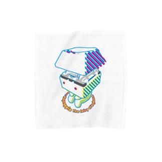お座りキーキャッピー Towel handkerchiefs