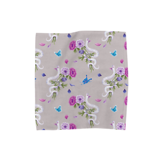 Fanfleecyのanemone(beige) Towel handkerchiefs