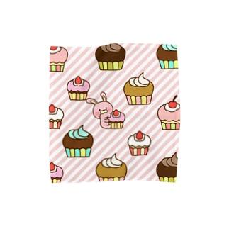 うさケーキ Towel handkerchiefs