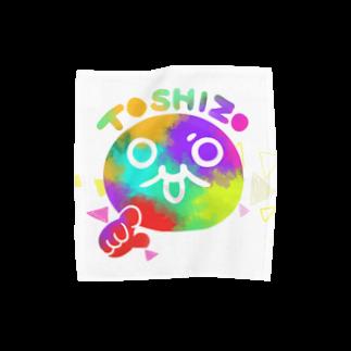 トシゾーのSUZURIのとこのモチゾーカラフル タオルハンカチ