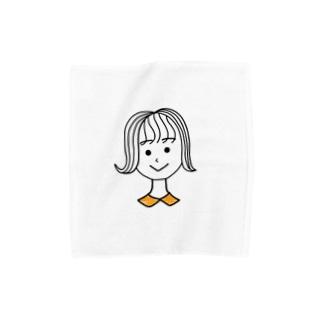 襟付き外ハネ女子(タオルハンカチ) Towel handkerchiefs