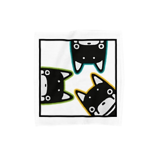 わんさか黒柴 Towel handkerchiefs