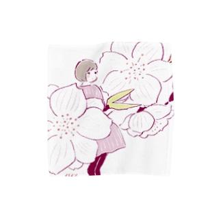 桃の花 Towel handkerchiefs