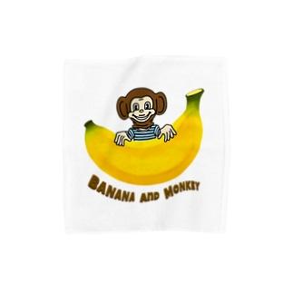 バナナ&モンキー Towel handkerchiefs