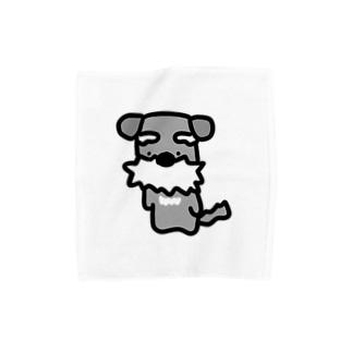 シュナ!はかしこそうな犬! Towel handkerchiefs