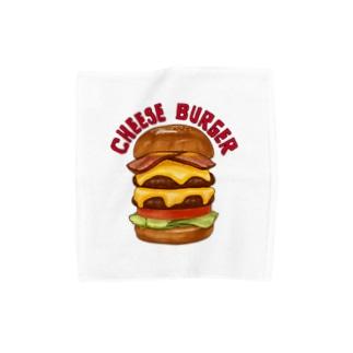 チーズバーガー Towel handkerchiefs