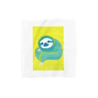 ナマケモノ3(アクリル画) Towel handkerchiefs
