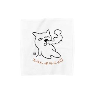 エクトプラニョロ前プリント Towel handkerchiefs