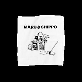 まるとしっぽのデザイン工場のmaru&shippo houseタオルハンカチ