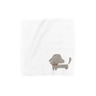 長いいぬ Towel handkerchiefs