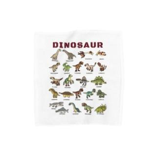 ちょっとゆるい恐竜図鑑 Towel handkerchiefs