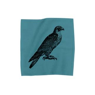 はやぶさタオル<アンティーク・イラスト> Towel handkerchiefs