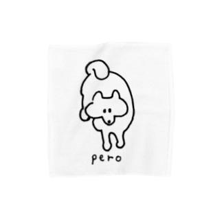ぺろ(おやつくださいの視線) Towel handkerchiefs