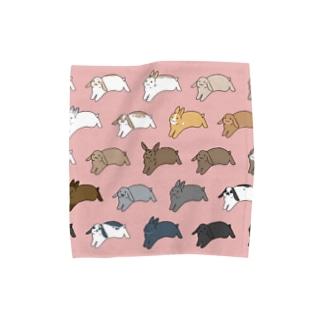ふくはな商店のうさまみれ(桃) Towel handkerchiefs
