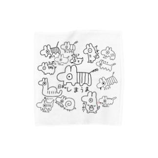 しまうま族のタオルハンカチ Mサイズ向け Towel handkerchiefs