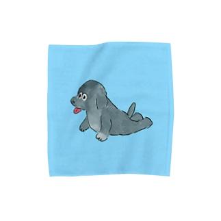 ふせるイヌ Towel handkerchiefs