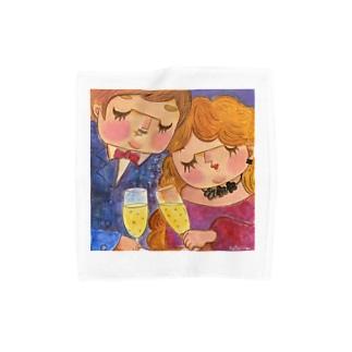 思い出のcafeハモニカ Towel handkerchiefs